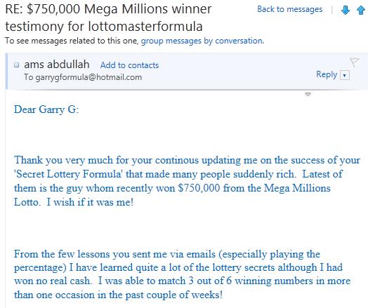 Lottery Master Formula